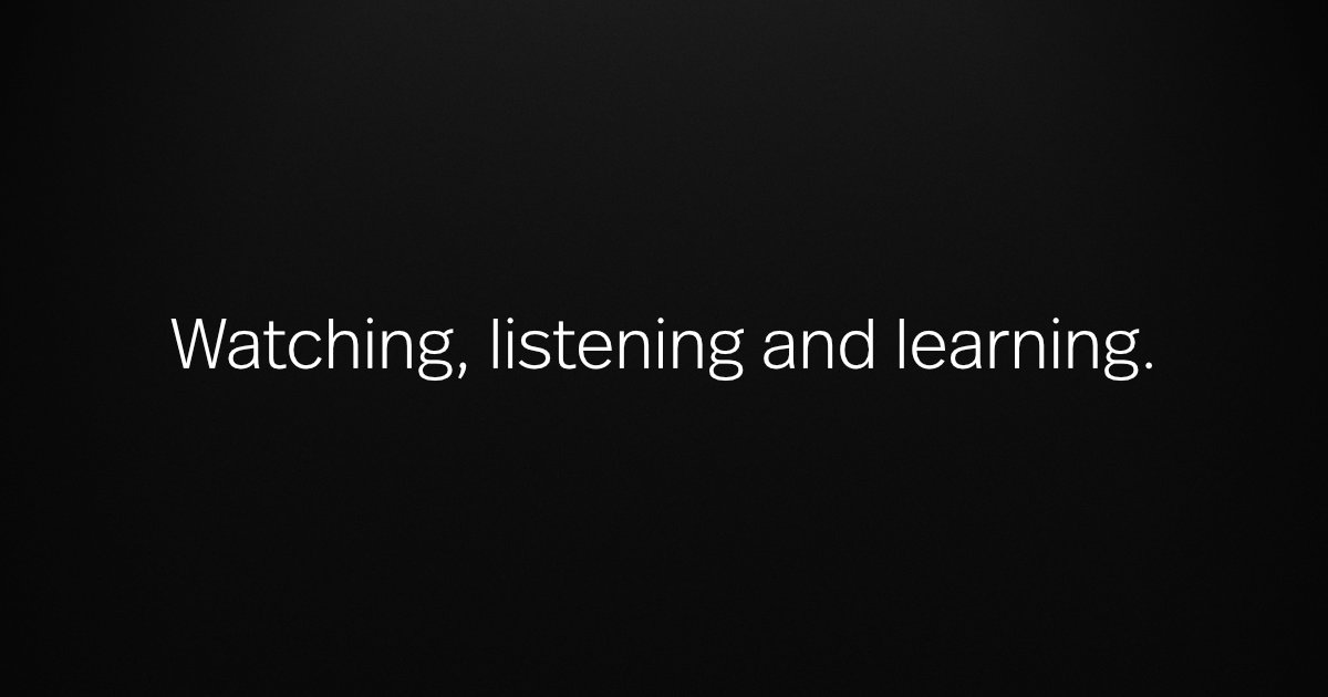Watching listening learning ogimage