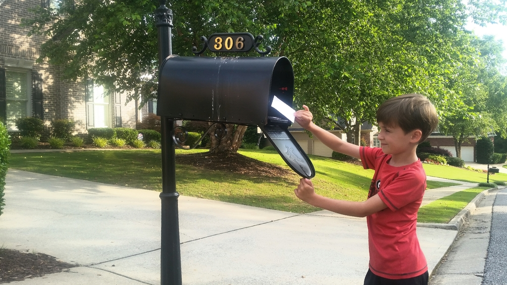 Large mailing a letter