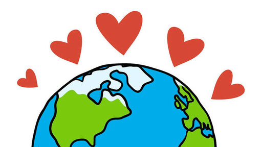 Thumb heart globe