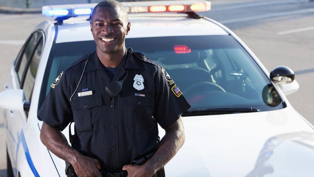 Large policeman